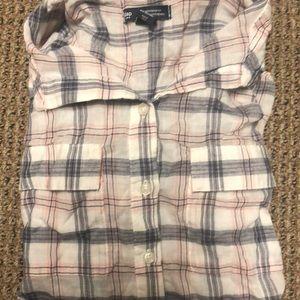 Elegant flannel button down